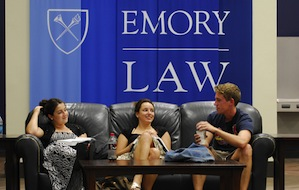 Emory Law students in Commons