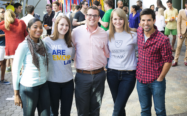 group of Emory Law students