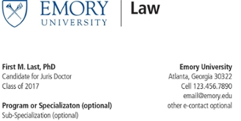 For students emory university school of law atlanta ga student business card cheaphphosting Choice Image