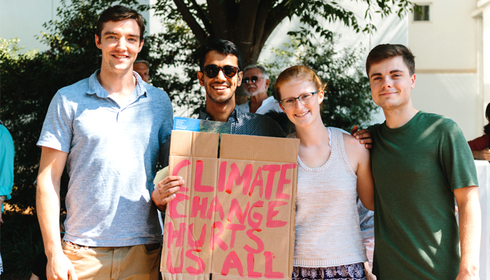 Environmental students at Climate Strike