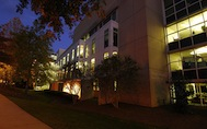 Emory Law at night